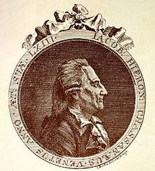 """Giacomo Girolamo Casanova de Seingalt (n. 2 aprilie 1725, Veneția - d. 4 iunie 1798, Castelul Duchcov (Dux)), aventurier amoros italian, originar din Veneția, devenit celebru prin peripețiile sale galante, evocate în """"Memoires"""" (""""Povestea vieții mele"""") scrise între anii 1791 și 1798, care cuprind existența sa aventuroasă și experientele sale, convingerile sale, care se remarcă printr-o bună cunoaștere și descriere a moravurilor epocii foto (Casanova (în anul 1788)): ro.wikipedia.org"""