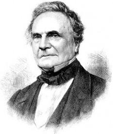 """Charles Babbage (n. 26 decembrie 1791 – d. 18 octombrie 1871), matematician și inginer mecanic englez. A fost cel dintâi care a imaginat o mașină de calculat programabilă, asemănătoare computerelor din ziua de azi. Din acest motiv este privit ca un """"părinte"""" al informaticii - foto: ro.wikipedia.org"""