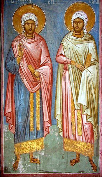 """Sfinții """"doctori fără de arginți"""" și făcători de minuni Cosma și Damian, din Asia Mică, au trăit întru Domnul în secolul al IV-lea. Prăznuirea lor se face pe data de 1 noiembrie - foto: doxologia.ro"""