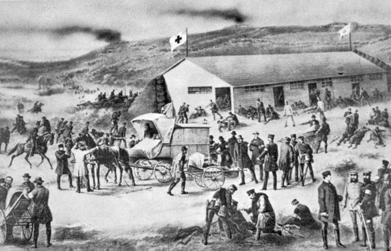The Red Cross in action in 1864 - foto: en.wikipedia.org