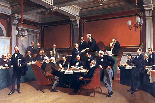 The signing of the Geneva Convention of 1864. Painting by Armand Dumaresq.  © ICRC / hist-d-00026 - foto: icrc.org