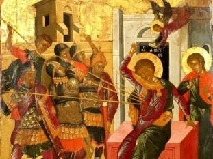 Sfântul Mare Mucenic Dimitrie, Izvorâtorul de Mir - Sfântul Tesalonicului, martir creștin, sfânt militar din veacul al III-lea care a trăit în vremea împăraților Maximian și Dioclețian (284-305), în cetatea Tesalonic (Salonic, în Grecia de azi). A fost martirizat la 9 aprilie 304- foto: basilica.ro