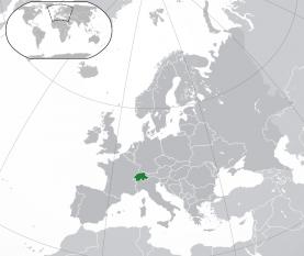 Amplasarea Elveției - foto: ro.wikipedia.org