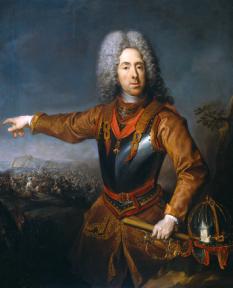 Eugen de Savoia-Carignano, sau Eugeniu de Savoia, cunoscut și ca Prințul Eugen (n. 18 octombrie 1663, Paris - d. 21 aprilie 1736, Viena), unul din cei mai străluciți feldmareșali ai Sfântului Imperiu Roman - foto: ro.wikipedia.org