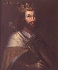 Ferdinand I al Portugaliei (n. 31 octombrie 1345, Lisabona — d. 22 octombrie 1383, Lisabona), supranumit Cel Frumos  sau mai rar Cel Inconstant, a fost al nouălea rege al Portugaliei, al doilea fiu, și cel mai mare care a supraviețuit, al lui Petru I al Portugaliei și a Constanței de Castilia. A urcat pe tron în 1367 - foto: ro.wikipedia.org