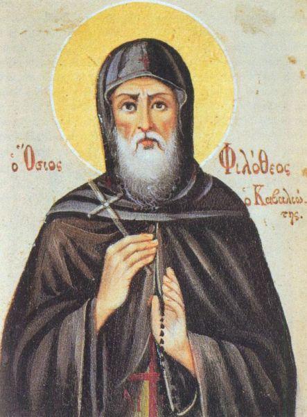 Sfântul Cuvios Filothei Dionisiatul. Prăznuirea sa de către Biserica Ortodoxă Romana se face la data de 21 octombrie - foto: doxologia.ro