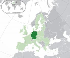 Localizarea  Germaniei - foto: ro.wikipedia.org