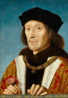 Henric al VII-lea a domnit în Anglia între anii 1485 și 1509. El a fost întemeiatorul dinastiei Tudorilor. A oprit războiul celor două roze căsătorinde-se cu Elisabeta de York, fiica lui Eduard al IV-lea, a desființat trupele senioriale și a format camera înstelată - in imagine, Portretul lui Henric VII ținând trandafirul roșu de Lancastrian, de Michael Sittow - foto: ro.wikipedia.org