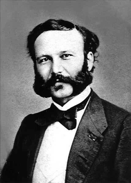 """Henry Dunant (n. 8 mai 1828 în Geneva, Elveția; d. 30 octombrie 1910, Heiden), din naștere Jean-Henri Dunant, a fost un om de afaceri elvețian și umanist de formație creștină. Fondează în 1862 """"Comitetul internațional al asociațiilor de ajutorare pentru îngrijirea răniților"""" care din 1876 poartă numele Comitetul internațional al Crucii Roșii. Convențiile de la Geneva din 1864 acceptă și asimilează ideile publicate de Dunant în lucrarea """"Eine Erinerung an Solferino"""". În 1901 a fost primul laureat al premiului Nobel pentru pace împreună cu Frédéric Passy - foto: en.wikipedia.org"""