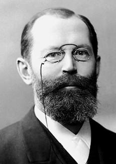 Hermann Emil Fischer (n. 9 octombrie 1852, Euskirchen - d. 15 iulie 1919, Berlin), chimist german, profesor universitar la Erlangen, Würzburg și Berlin, laureat al Premiului Nobel pentru chimie pe anul 1902, având contribuții în domeniul chimiei organice și biologice - foto: ro.wikipedia.org