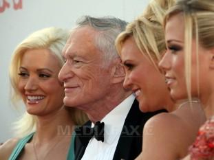 Hugh Marston Hefner (n. 9 aprilie 1926), publicist american, fondator și director de creație al Playboy Enterprises - foto: mediafax.ro