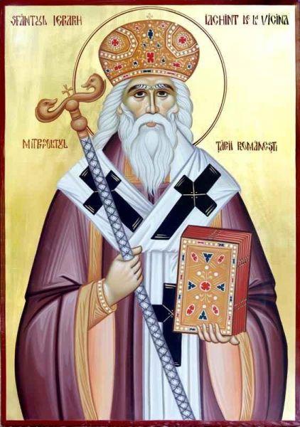 Sfântul Ierarh Iachint de Vicina a vieţuit în secolul al XIV-lea (născându-se probabil spre sfârşitul secolului al XIII-lea), fiind ultimul conducător al Mitropoliei de Vicina şi primul mitropolit al UngroVlahiei (Ţara Românească). Prăznuirea lui se face la data de 28 octombrie - foto: doxologia.ro