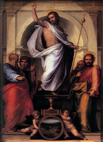 "Fra Bartolomeo: ""Christ with the Four Evangelists"" - foto: en.wikipedia.org"