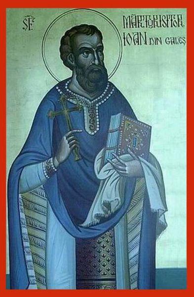 Sfântul Sfințit Mărturisitor Ioan din Galeș a fost un preot originar din Transilvania care a trăit în secolul al XVIII-lea. El a fost închis pentru că a protestat împotriva presiunii exercitate de autoritățile Imperiului habsburgic asupra ortodocșilor pentru a-i sili să accepte unirea cu Roma și, pentru credința lui, a murit în închisoarea de la Kufstein (Austria). Prăznuirea sa, împreună cu cea a Sf. Sfințit Mărturisitor Moise Măcinic din Sibiel se face la 21 octombrie - foto: doxologia.ro