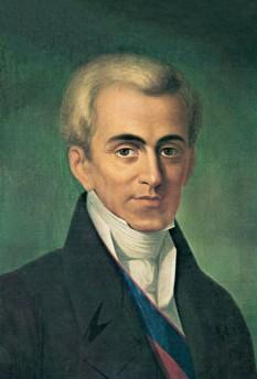 Contele Ioannis Antonios Kapodistrias (n. 11 februarie 1776–d. 9 octombrie 1831), diplomat grec ce a activat pentru Imperiul Rus și care apoi a devenit primul șef de stat al Greciei - foto: ro.wikipedia.org