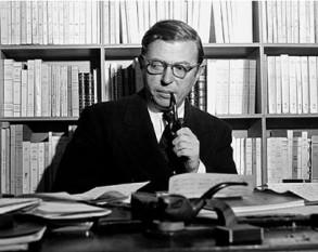 Jean-Paul Sartre (pe numele complet Jean-Paul Charles Aymard Sartre; n. 21 iunie 1905, Paris, d. 15 aprilie 1980, Paris), filozof francez, reprezentant al existențialismului, scriitor (Premiul Nobel 1964), jurnalist și militant social - foto: blog.bookstellyouwhy.com