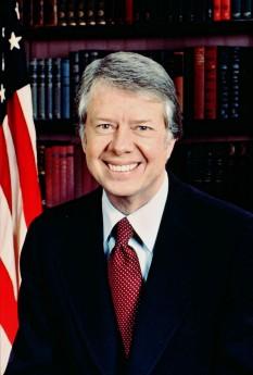 James Earl Carter Jr. (cunoscut ca Jimmy Carter; n. 1 octombrie 1924), politician american și un autor de cărți american, care a fost cel de-al treizeci și nouălea președinte al Statelor Unite ale Americii (1977–1981) și laureat al Premiului Nobel pentru Pace în 2002  foto: ro.wikipedia.org