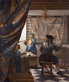 Johannes Vermeer, cunoscut mai ales ca Jan Vermeer van Delft (botezat 31 octombrie, 1632, Delft, Țările de Jos, d. 15 decembrie 1675, Delft, Țările de Jos), pictor olandez, unul din cei mai cunoscuți reprezentanți ai stilului baroc foto (Jan Vermeer: Alegoria picturii sau în atelier, 1673): ro.wikipedia.org