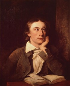 John Keats (n. 31 octombrie 1795, Londra - d. 23 februarie 1821, Roma), poet englez, unul din cei mai importanți reprezentanți ai romantismului englez, alături de Lord Byron și Percy Bysshe Shelley - in imagine, John Keats, portret de William Hilton - foto: ro.wikipedia.org