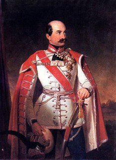 Josip Jelačić (n. 16 octombrie 1801, Petrovaradin – d. 19 mai 1859, Zagreb) a fost ban al Croației și general al Imperiului Austriac, adversar al Revoluției de la 1848. Alături de generalul Alfred Candidus Ferdinand zu Windisch-Graetz a pus capăt revoluției la Viena. În Croația este considerat erou național, iar piața centrală din Zagreb îi poartă numele. Este de asemenea reprezentat pe bancnota de 20 de kune. A fost decorat cu Ordinul Maria Terezia în grad de comandor - foto: ro.wikipedia.org