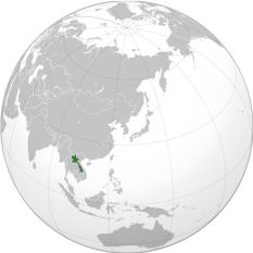 Amplasarea Laosului - foto: ro.wikipedia.org
