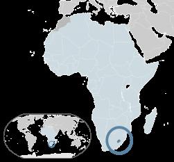 Amplasarea Regatului Lesotho - foto: ro.wikipedia.org
