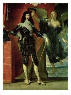 Ludovic al XIII-lea (n. 27 septembrie 1601 - d. 14 mai 1643, Saint-Germain-en-Laye), supranumit cel Drept (în franceză Le Juste), fiul lui Henric al IV-lea al Franței, a domnit ca rege al Franței și Navarei între anii 1610 și 1643. Imaginea regelui este inseparabilă de cea a primului său ministru cardinalul Richelieu - foto: cersipamantromanesc.wordpress.com