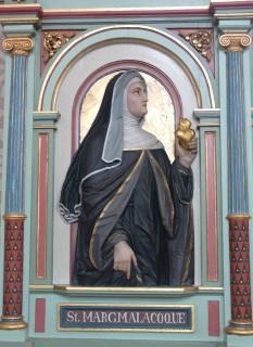 Sf. Margareta Maria Alacoque, VHM (franceză: Marguerite-Marie Alacoque) (1647-1690), a fost o călugăriță romano-catolică și francez mistic, care a promovat devoțiunea față de Preasfânta Inimă a lui Isus în forma sa modernă - foto: en.wikipedia. org