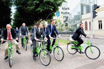 Coloana oficială a premierului olandez Mark Rutte - foto: euractiv.ro