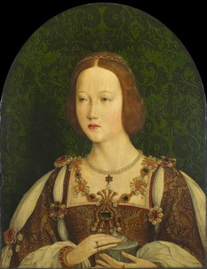 Mary Tudor (18 March 1496 – 25 June 1533), the third daughter of Henry VII of England and Elizabeth of York, was Queen of France. Mary became the third wife of Louis XII of France, more than 30 years her senior. Following his death, she married Charles Brandon, 1st Duke of Suffolk - foto (Portrait of Mary Tudor by an unknown artist in the French school): en.wikipedia.org
