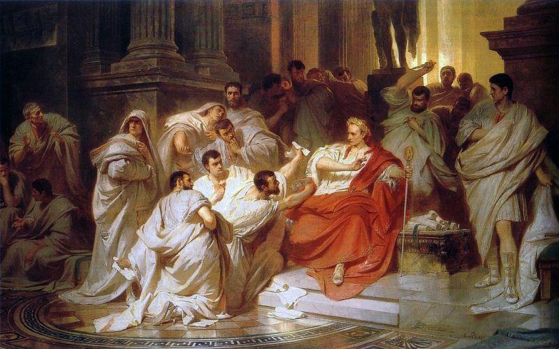 Moartea lui Cezar de Karl von Piloty - foto preluat de pe ro.wikipedia.org