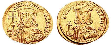 Nicefor I (Nikeforos Genikos), scris și Nichifor (d. 26 iulie 811), împărat bizantin între 802 și 811, fiind întemeietorul dinastiei focide foto (:Nicefor I şi fiul său Staurakios) ro.wikipedia.org