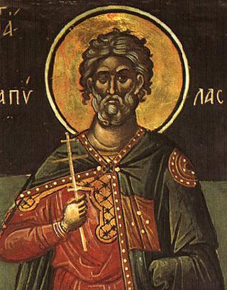Sfântul Mucenic Papil. Prăznuirea sa de către Biserica Ortodoxă Romana se face la data de 13 octombrie - foto: doxologia.ro