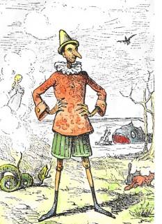 Pinocchio de Enrico Mazzanti (1852-1910) - primul ilustrator (1883) al Aventurilor lui Pinocchio - foto: ro.wikipedia.org