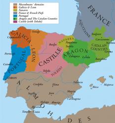 Regatul Castiliei în anul 1210 - foto: ro.wikipedia.org