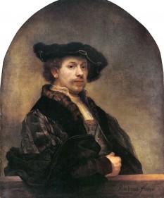 Rembrandt Harmenszoon van Rijn (n. 15 iulie 1606, Leiden - d. 4 octombrie 1669, Amsterdam), pictor și gravor olandez din secolul al XVII-lea, considerat unul din cei mai mari pictori din istoria artei, celebru și pentru desenele și gravurile sale - foto (Rembrandt - Autoportret - Muzeul Luvru, Paris): ro.wikipedia.org