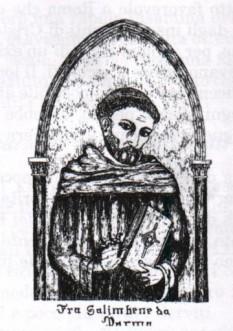 """Salimbene de Parma, (n. 9 octombrie 1221 - d. 1288) calugar franciscan autor al unei """"Cronici"""", o istorie a oraşului Parma, scrisă în limba latină - foto: stupormundi.it"""