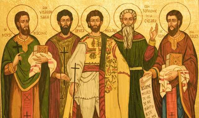Sfinții Visarion, Sofronie, Oprea, Ioan din Galeș, Moise Măcinic din Sibiel. Prăznuirea lor de către Biserica Ortodoxă Romana se face la data de 21 octombrie - foto: doxologia.ro