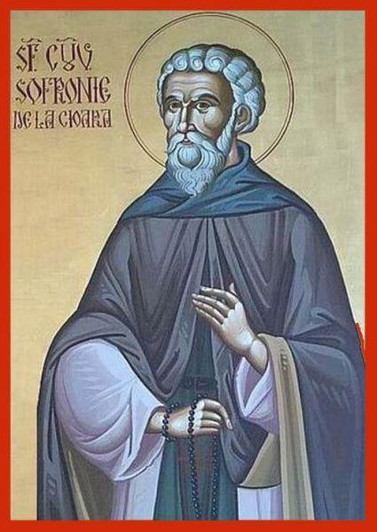 Sfântul Cuvios Mărturisitor Sofronie de la Cioara. Prăznuirea sa de către Biserica Ortodoxă Romana se face la data de 21 octombrie - foto: doxologia.ro