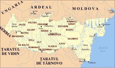 Judeţele istorice ale Ţării Româneşti - foto: ro.wikipedia.org