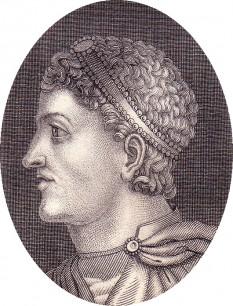 Flavius Theodosius (11 ianuarie 347 - 17 ianuarie 395), cunoscut ca Teodosiu I sau Teodosiu cel Mare, împărat roman în perioada 379 -395 - foto: - ro.wikipedia.org