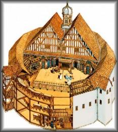 Într-un astfel de teatru s-a afirmat William Shakespeare – dramaturgul care nu i-a închinat Elisabetei I nici o piesă -, creatorul lui The Globe Theatre, care a dus faima teatrului elisabetan în lume - foto: istoriiregasite.wordpress.com