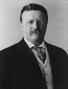 Theodore Roosevelt, Jr. (27 octombrie 1858 - 6 ianuarie 1919), cunoscut de asemenea ca T.R. sau Teddy (publicului larg, dar niciodată celor apropiați sau familiei), cel de-al douăzeci și cincilea vicepreședinte și cel de-al douăzeci și șaselea președinte al Statelor Unite ale Americii servind două mandate între anii 1901 și 1909 foto: ro.wikipedia.org
