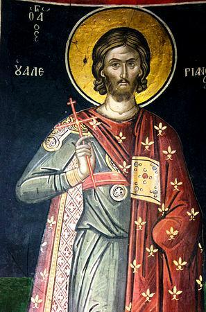 Sfântul Mucenic Valerian. Prăznuirea sa de către Biserica Ortodoxă Romana se face la data de 25 octombrie - foto: doxologia.ro