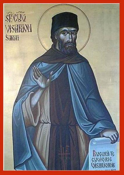 Sfântul Cuvios Mărturisitor Visarion Sarai. Prăznuirea sa de către Biserica Ortodoxă Romana se face la data de 21 octombrie - foto: doxologia.ro