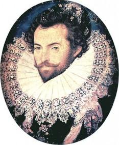 Sir Walter Raleigh (n. 1552 sau 1554 - d. 29 octombrie 1618), faimos scriitor, poet, soldat, politician, corsar și explorator englez foto: ro.wikipedia.org