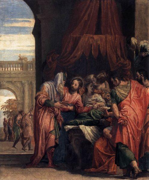 """""""Raising of Jairus' Daughter"""" by Paolo Veronese, 1546 - foto: en.wikipedia.org"""