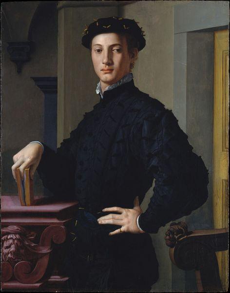 Agnolo di Cosimo di Mariano sau Agnolo Tori, (n. 17 noiembrie 1503, Monticelli (Florența) – d. 23 noiembrie 1572, Florența) a fost un pictor italian reprezentat al stilului manierism, in imagine, Bronzino, Young Man with a Book, c. 1530–39 - foto: en.wikipedia.org