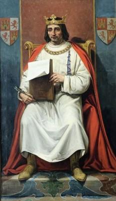 Alfonso al X-lea al Castiliei (cel Înțelept) (n. 23 noiembrie 1221, Toledo - d. 4 aprilie 1284, Sevilia), rege al Castiliei, regatului León și Galiției în perioada 1252 - 1284. În 1257, a primit și tronul Sfântului Imperiu Romano-German, deși papalitatea nu i-a acordat confirmarea. - foto: ro.wikipedia.org