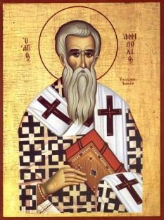 Sfântul Ierarh Amfilohie, Episcopul Iconiei.  Pomenirea sa de catre Biserica Ortodoxa se face la data de 23 noiembrie - foto: doxologia.ro